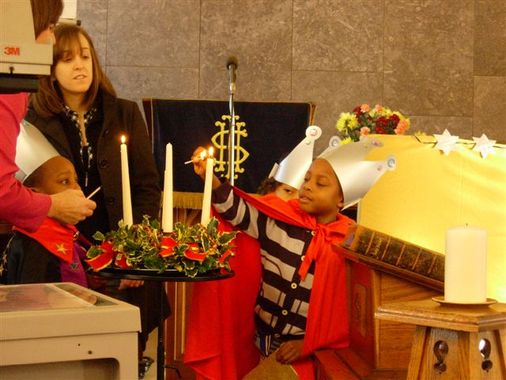 Lighting the Advent Candles