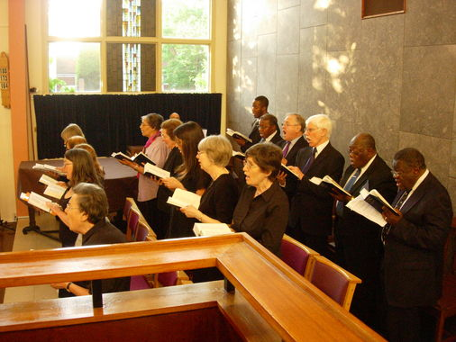 The choir from the pulpit