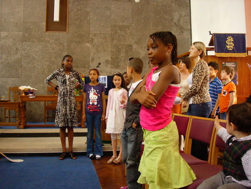The Youth Choir leading the singing
