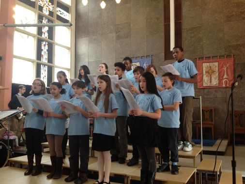 The Youth Choir singing