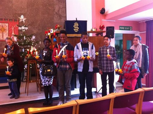 Our Christingles in church