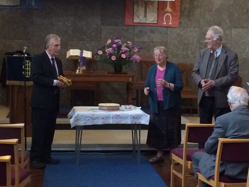 Presentation by our lay chair of Elders to our Golden Wedding couple.