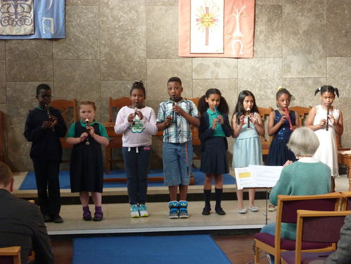 The Recorder Group playing