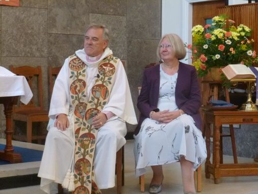 Revd David and his wife Pam
