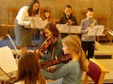 Recorder players and second violins