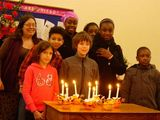 Christingles together at the back of the church