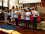 The Youth Choir at the Summer Concert singing