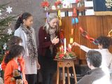 lighting our Advent candles