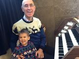 Our organist is joined by his grandson on Christmas Day