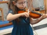 Violin solo from our youngest performer